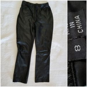 XOXO Leather and suede vintage pants